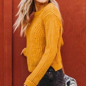 ROXY NWT Glimpse of Romance Knit Sweater Small